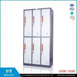 Mingxiu 6 Kabinetten van de Opslag van het Metaal van de Deur Industriële/de Gebruikte Kabinetten van de Opslag van het Staal