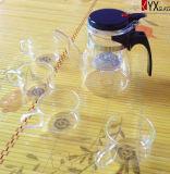 600ml優雅なガラスティーポットまたはガラスの茶メーカーまたは出版物の芸術ガラスのティーポット
