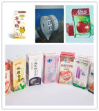 Materiais laminados usando-se para o empacotamento asséptico do alimento líquido