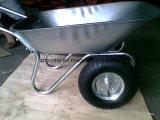 Cassetto di Galavanized e carriola più poco costosa delle rotelle del doppio del blocco per grafici (Wb6211)