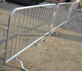 Pie de tipo plano barrera multitud galvanizado en caliente