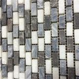 中国語は灰色のモザイク、Emperadorの暗い大理石のタイルを編む