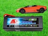 Batteria di scarico del polimero del litio di tasso del modello 8000mAh 11.1V 25c dell'automobile di RC alta