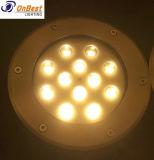 Indicatore luminoso sotterraneo caldo di vendite 12W LED in IP67