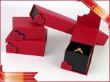 Caja de joyas Joyas de papel de anillo de casilla de verificación