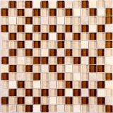 Varios Color mosaico de vidrio y piedra