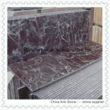 Telha de assoalho de mármore vermelha de Rosso Levanto para a decoração comercial do edifício