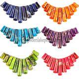Mode Bijoux Perles de pierres multicolores Impression Jasper barre graduée pendentifs