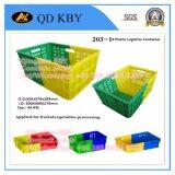 Caixas plásticas dobro de Finsh do vegetal de fruta de Supermart da cor 271#