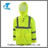 Высокая куртка дождя безопасности видимости