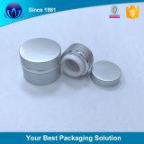 Rellenables 50g crema cosmética de vidrio esmerilado vaso jarra de plata el recipiente con tapa Alumite