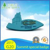 Insigne 2017 spécial en métal d'emblème de souvenir d'argent d'or de Pin de revers des Chefs de sommet de l'Allemagne Hambourg G20