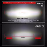 singola riga 240W del riflettore 6D barra chiara dell'automobile LED da 49 pollici per la jeep fuori strada