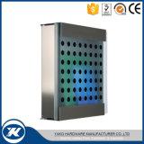 Montado na parede de vidro temperado o aço inoxidável Letter Box