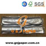 Papel termal del ultrasonido revestido superior de Stocklot en el cartón (upp-110hg)