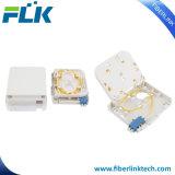 Rectángulo terminal óptico de la fibra montada en la pared del enchufe FTTH del panel del socket