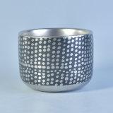 Recipiente cerâmico metálico da vela