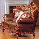 Sofà di cuoio italiano per la mobilia del salone (YF-309)