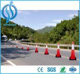 Cone plástico reflexivo da estrada do tráfego do PVC