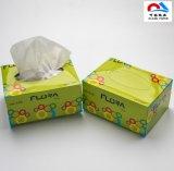 Color blanco impreso personalizado Caja de pañuelos de papel tejido Facial
