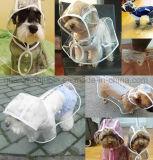 OEM impermeable transparente EVA Perro capa de lluvia Poncho impermeable Rainwear