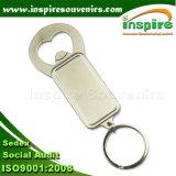 L'apri di bottiglia della catena chiave, apri di bottiglia dell'anello portachiavi, Metal l'apri di bottiglia in bianco