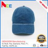 L'ODM d'OEM conçoivent la casquette de baseball ajustée par denim lavée par qualité