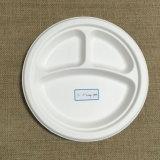 Placa redonda Compostable Eco-Friendly da polpa 9inch do bagaço