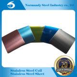 Hoja del color del acero inoxidable de la alta calidad 202 para los materiales de la decoración