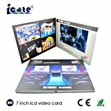 ¡Precio de fábrica! Tarjeta video del folleto video de la pantalla del LCD de 7 pulgadas con alta calidad