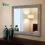 Espelho de vaidade impermeável chanfrado irregular do banheiro do diodo emissor de luz do hotel com luz