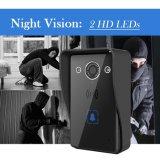 Alimentée par batterie sans fil WiFi avec Night Vision sonnette de la vidéo et audio à deux voies