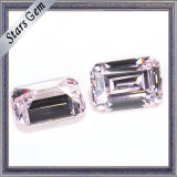 Свет верхнего качества - диамант розового кубического Zirconia синтетический для кец