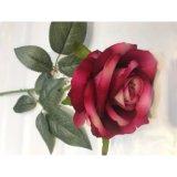 Fleur artificielle en soie d'usine de fleur artificielle de Rose Guangzhou de velours