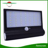 lámpara solar al aire libre impermeable del jardín de la seguridad de la luz de la pared del sensor de movimiento de la energía solar de 650lm 42 LED