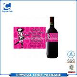 Ярлыки стикеров стеклянных бутылок вина нормального размера