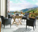 屋外の藤のホームホテルのオフィスのレストランの金の庭の円形の柳細工のダイニングテーブルおよび椅子(J535)