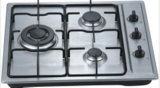 Tipo de cristal de 3 hornillas construido en estufa de gas/avellanador del gas/cocina de gas