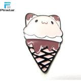 Pin lindo de la solapa del metal de la muestra libre del esmalte del gato del helado de Kunshan