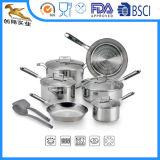 18/10 cuiseur d'acier inoxydable avec le couvercle en verre (CX-SS1202)