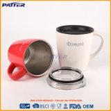 Personalizar el color Acero Inoxidable taza de café con tapa transparente