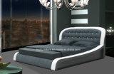 Роскошная самомоднейшая кровать Италии комплекта спальни кожаный мягкая двойная