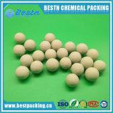 Bola industrial del embalaje de la bola de cerámica inerte como media del soporte