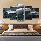 5 pintura de la impresión del arte HD del cuadro de la lona de la decoración de la pared del hogar de la nave espacial del halcón del milenio de Star Wars de la película del panel en ilustraciones de la lona