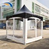 tente noire en aluminium de Gazebo de chapiteau de 3X3m première pour l'événement extérieur