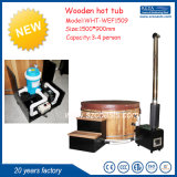 1 bañera de madera encendida madera de la tina caliente de la persona
