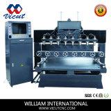 Mesa de máquina CNC mover los muebles de madera giratorio de tallado de Router (VCT-TM2515FR-8H)