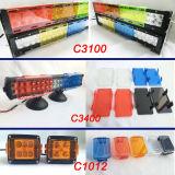 Colorear la cubierta de la luz del trabajo de la barra ligera LED del LED con el negro ambarino del verde amarillo del rojo azul