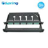 1u 120f High-Density ССП ГПО Волоконно оптические коммутационные панели с 5PCS ГПО кассеты