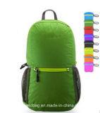 Темно - зеленый Hiking Unisex Nylon складывая мешок Backpack школы